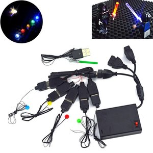 LED-Lampen USB Light Emitting Klassische Brick City LED-Straßenlampe Bausteine kompatibel Alle Marken Spielzeug Mini Modell Licht yxlizl