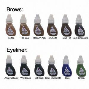 Pigment d'origine États-Unis Microblading pigment Obtenez pure confiance micropigment Permanent Maquillage Tattoo Encres Pour Sourcils dA2v #