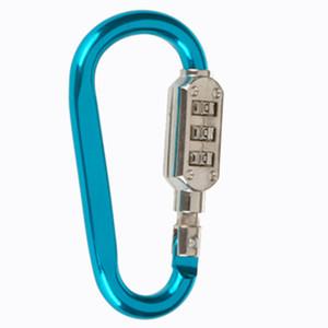야외화물 보안 카라비너 암호 잠금 등반 버클 리셋 3 다이얼 숫자의 조합 비밀번호 가방에 대한 코드 잠금 자물쇠