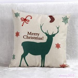 Estilo Design Atacado de Natal Hot lençóis de algodão Throw Pillow Caso Praça decorativa Almofadas BYA0111 Yisu #