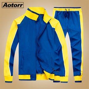 New Spring Mens Sweatsuit Sets 2 Piece Zipper Jacket Track Suit Pants Man Casual Brand Tracksuit Male Sportswear Set Clothes LJ201124