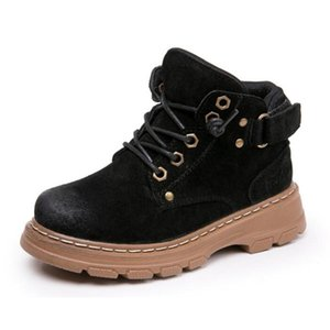 SandQ baby boys ankle boots genuine leather shoes winter footwear for kids chaussure zapato children shoes girls boot Warm LJ200911