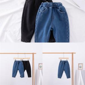 Ixkuc Vestido Hip Hop Bambini Costume Addensare Jeans Steet Bambini Vestito Abbigliamento Jazz Tenere Caldo Costume Top Pant Aggiungi Jeans Velvet Vestiti Bambino