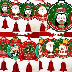 Feltro da bandeira do Feliz Natal Decorações de Natal para Home Garland Papai Noel Navidad Natal Xmas Noel Decor 2020 Ano Novo 2021