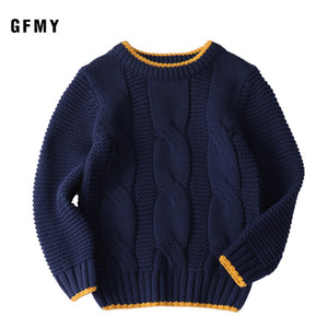 GFMY Autumn Winter Fashion O-Collar Solid Color Sweater For Boys Cotton Pullover Sweater Kids Fashion Outerwear 2-12T clothes