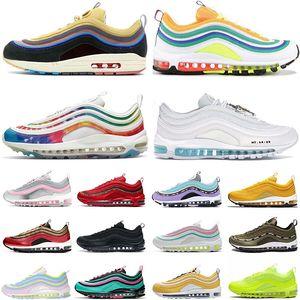 Nike Air Max 97 핫 판매 숀 Wotherspoon 97 남성 실행 신발 공기최대AIRMAX 배 화이트 블랙 실버 불릿 97s 남성 여성 스포츠 스니커즈