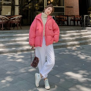 Winter new small short cotton padded clothes women 2020 trend bread clothing candy color coat