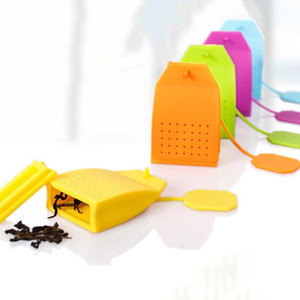 New Bag Shaped Tea Infuser Popular Bag Style Silicone Tea Strainer Herbal Spice Filter Diffuser Kitchen Home Slimming Tea Infusers GGE1999