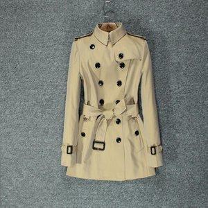Women's Trench Coats British Style Windbreaker 2021 Short Chic Classic Hong Kong Small Autumn Coat