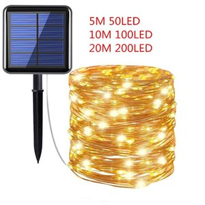 10 20M 100 200LEDs Solar Lamp Garland Fairy Lights Christmas Tree Decor Navidad Xmas Ornaments Christmas Decorations for Home