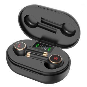 DOCOOLER L2PRO Bluetooth 5.1 Écouteurs TWS Type d'empreinte digitale Tableau d'oreillette HIFI Stéréo Écouteurs intra-auriculaires