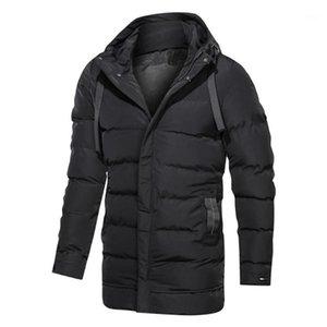 Parka Men Winter Slim Jacket Casual Streetwear Coat Mens Solid Quilted Jackets Korean Style Hooded Puffer Coats Windproof Parkas1