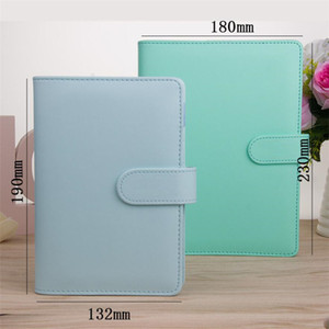 A5 A6 Notebooks Cover PU Leather Clip Refillable Notebook Cover Binder Portable Personal Planner for Filler Paper