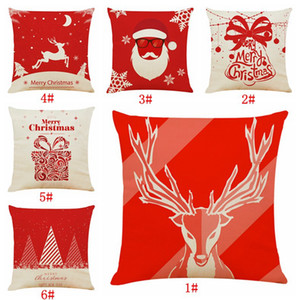 Red Christmas Pillow Cover Case Decorative Sofa Cushion Covers Car Seat Throw Pillowcase Christmas Decoration For Home Decor DBC BH4283