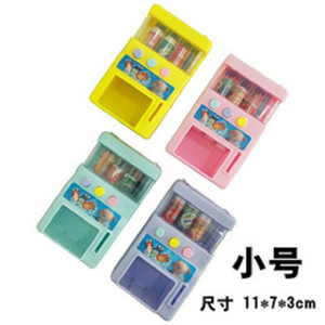Children mini candy vending machine Coin-operated DIY vending toy educational toy special gift cartoon imaginative present party decor