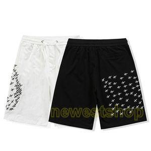 2021 designer Shorts Sweatpants Famous Mens Women paris flat airplane Letters Printed Summer Pants Fashion casual cotton pocket breeches
