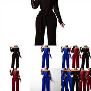 AHXW Novo Alto Collar Esportes Twosuit MulheresMbroidery Long Basculador Preto Fashion's Jumpsuit Pant Two Pie P Outfit Set Zipper Casual