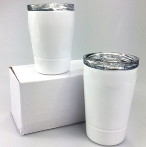 DIY 승화 8 온스 아이들 텀블러 304 스테인레스 스틸 텀블러 아이 물병 키즈 우유 컵 와인 안경 해상 운송 CCA12662