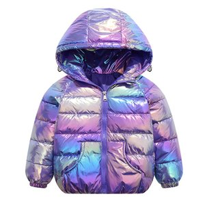 LZH 2020 New Autumn Winter Children Colorful Down Jacket For Girls Parkas Warm Outerwear Coat Kids Down Jacket 3 4 5 6 7 8 Years 1011