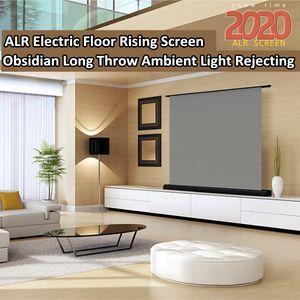 16: 9 lançamento longo ALR Andar Nascente tela de projeção Piso elétrica ecrã de posição de projecção portátil de tela suporte de chão Pull-up