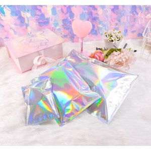 Laser Color Aluminum Foil Self Adhesive Retail Bag Candy Cookies Mylar Foil Packing Pouch For Grocery Crafts Pac jllYvC ladyshome