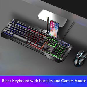 2020 Nuove sette colori della retroilluminazione Gaming Keyboard Mouse Tastiere USB per PC Desktop Laptop Gamer