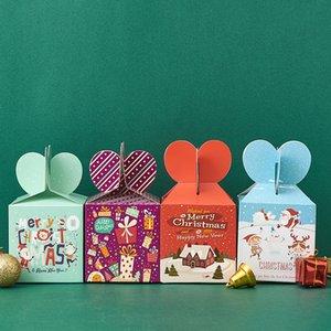 Веселое случайный рождественские яблочные конфеты коробка рождественские канун упаковочные коробки сказочные дизайн Papercard рождественские подарки коробка плодоовощ творческий