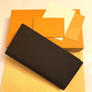Brazza Wallet أنيق رجالي سترة طويلة محفظة لون بني ماء متقلب قماش لعقد تغيير الملاحظات بطاقات الائتمان نوعية جيدة M66540