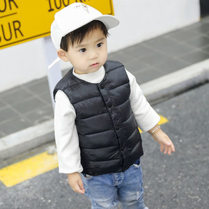 Winter Autumn Baby Girls Boys Waistcoats Children Clothes Kids Warm Thick Coats