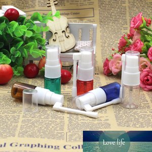 Free Shipping 10pcs lot 5ml PET 4color Clear Fine Nasal Mist Spray Bottle with Fine Nasal Sprayer Pump