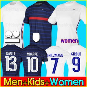 2020 maillot France jersey MBAPPE GRIEZMANN POGBA 2021 Soccer jersey maillots de football shirt maillot de foot equipe de football soccer jersey homme + enfant kit
