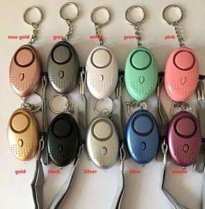 Forma 130db Egg Self Defense Alarm menina Mulheres Security Protect Alerta de Segurança Pessoal grito sistemas de alarme alto-chaves