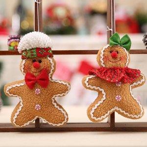 진저 브레드 남자 크리스마스 펜던트 펜던트 장식 쿠키 인형 봉제 크리스마스 트리 위젯 트리 장식 BWF2144