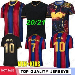 10 Messi Maillots de Futebol Camisa Camisa de Futebol Jerseys 8 A. Iniesta 17 Griezmann F. de Jong Suarez Dembele Coutinho Malc O.Dembele Men Kids Kit