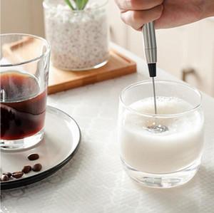 Acero eléctrico Batidor de leche batidor de huevo Batir inoxidable automático de Crema de Leche batidora eléctrica Frother mezclador Coffe huevo de la cocina Herramientas LSK1452