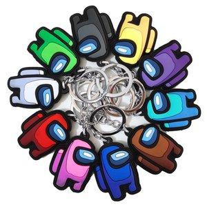 미국 디자이너 중 Keychain 게임 가운데 키 체인 애니메이션 귀여운 만화 다채로운 Keyrings Keychains 자동차 키 액세서리 저렴한 CZ1221D