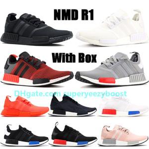 hombre nuevo NMD R1 zapatos para correr exuberantes luz roja onix Europa Exclusivo táctil triple verde negro hombres blancos formadoras zapatillas de deporte al aire libre
