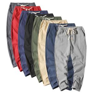 Erkekler Rahat Rahat Harem Pantolon Gevşek Homme Pantolon İpli Erkek Pantolon Artı Boyutu Çin Tarzı Giyim
