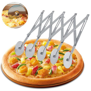 Multi Wheel Pastry Cutter Multifunctional Stainless Steel Pizza Knife Single Head Multi-wheel Knife Hob Fruit Vegetable Kitchen Tools HA1452