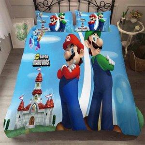 HELENGILI 3D Пододеяльник Mario Party Print пододеяльник Set Bedcloth С наволочки кровать Домашний текстиль # MLA22 Iqre #