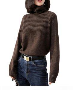 Tailor Sheep Cashmere suéter mujeres espesando de manga larga jersey suelto de gran tamaño Suéter Suéter femenino tops de lana caliente CX200810