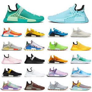 Raza Humana 2020 Pharrell Williams NMD Running Shoes Top Calidad All Blue Green Tamaño 36-47 Black Nerd Pale Nude Transports Deporte Zapatillas deportivas