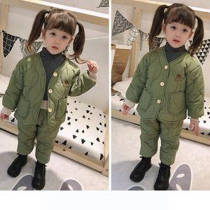 Kids Designer Sets Children Brand Solid Color Cotton frozen Clothing Two Piece Set Fashion Tops + Pants Boys Girls Warm Clothes Winter Hot
