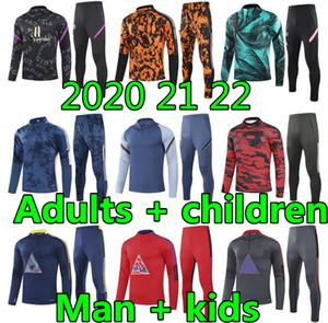 20 21 22 Erwachsene und Kinder Herren Designer Trainingsanzüge Herren Trainer Fussball Trainingsanzug Fußball Trainingsanzug Fussball Trainingsanzug