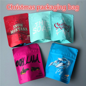 Weihnachtsplätzchen Mylar Taschen minntz 420 Verpackungs Mylar-Taschen Weihnachtsbaum MINNTZ Die Seife JEFE Gashouse PLUTO FIORE PARLAY mylar Tasche