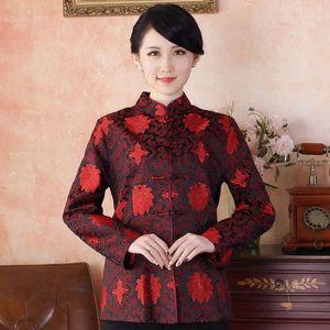 Free Shipping Autumn Winter Chinese Tradition Women's Brocade Satin Jacket Coat Warm M L XL XXL 3XL 4XL WKH2014-201