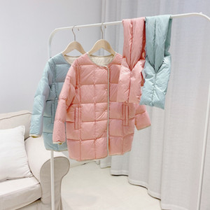 Nouvelle arrivée hiver bébé Filles Veste longue Vêtements pour bébé extérieure fine couche pour enfants avec écharpe pour enfants Vêtements Fille