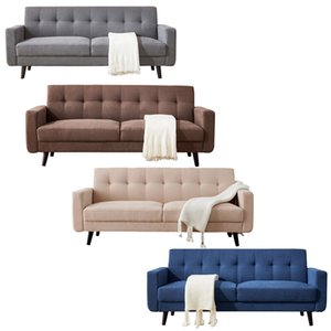 """WACO Mid-Century Modern Sofa, Fabric, 79""""W, Fashion and Elegant Home Living Room Sofas Chairs Couches Funiture Gray,Brown,Beige,Blue"""