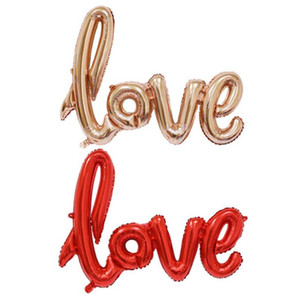 100pcs 40inch Romantic Letter Balloons Rose Gold LOVE Foil Balloons Wedding Decoration Ballons 108*64cm Free Shipping SN3709