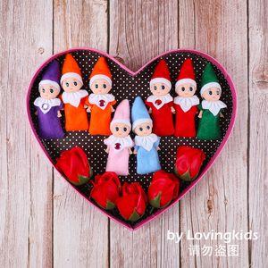 Free Shipping 10 PCS Christmas Baby Elves Mini Elf Xmas Decoration Doll Kids Toys Gifts Little Dolls